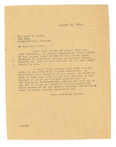 Thumbnail of Letter from Crisis to John R. Scott