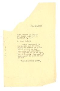 Thumbnail of Letter from W. E. B. Du Bois to Bertha L. Smalls