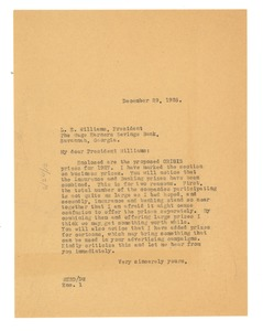 Thumbnail of Letter from W. E. B. Du Bois to Wage Earners Savings Bank