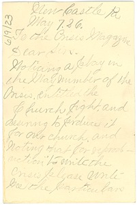Thumbnail of Letter from Mrs. F. D. Wilkes to Crisis