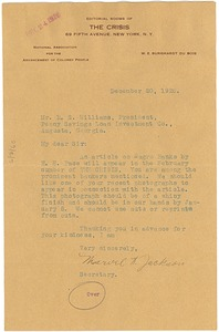 Thumbnail of Letter from H. C. Dugas to Crisis