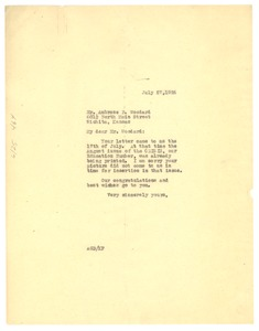 Thumbnail of Letter from Crisis to Ambrose P. Woodard