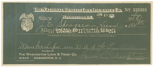 Thumbnail of Copy of a check to J. E. Spingarn