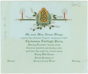 Thumbnail of Christmas twilight party invitation