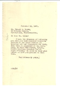 Thumbnail of Letter from W. E. B. Du Bois to Hubert A. Brown
