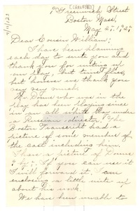 Thumbnail of Letter from Alice Crawford to W. E. B. Du Bois