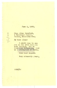 Thumbnail of Letter from W. E. B. Du Bois to Alice Crawford