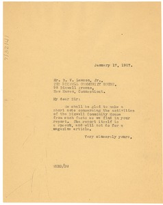Thumbnail of Letter from W. E. B. Du Bois to The Dixwell Community House