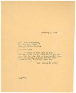 Thumbnail of Letter from W. E. B. Du Bois to Maud Cuney-Hare
