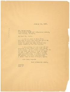 Thumbnail of Letter from W. E. B. Du Bois to Frank Horne