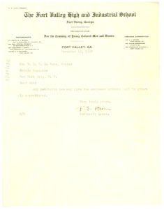 Thumbnail of Letter from Frank Horne to W. E. B. Du Bois