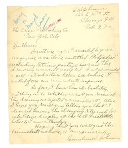 Thumbnail of Letter from Cornelius W. Johnson to Crisis