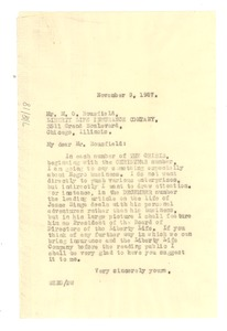Thumbnail of Letter from W. E. B. Du Bois to Liberty Life Insurance Company of Illinois