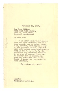Thumbnail of Letter from W. E. B. Du Bois to Jess Miller