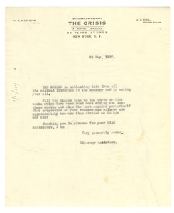 Thumbnail of Letter from Crisis to unidentified correspondent