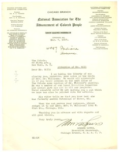 Thumbnail of Letter from N.A.A.C.P. Chicago Branch to Crisis