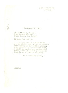 Thumbnail of Letter from W. E. B. Du Bois to Wallace A. Battle