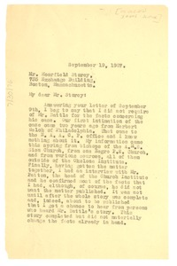 Thumbnail of Letter from W. E. B. Du Bois to Moorfield Storey