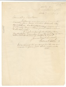 Thumbnail of Letter from Wallace A. Battle to W. E. B. Du Bois