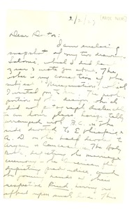 Thumbnail of Letter from Maude I. Owens to W. E. B. Du Bois