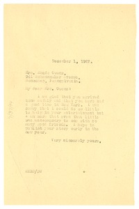 Thumbnail of Letter from W. E. B. Du Bois to Maude I. Owens