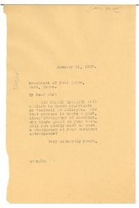 Thumbnail of Letter from W. E. B. Du Bois to the president of Paul Quinn College