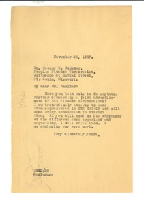 Thumbnail of Letter from W. E. B. Du Bois to Peoples Finance Corporation