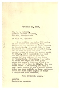 Thumbnail of Letter from W. E. B. Du Bois to S. D. Redmond