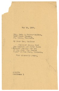 Thumbnail of Letter from W. E. B. Du Bois to Ruth Gaines Shelton