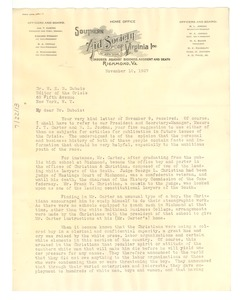 Thumbnail of Letter from the Southern Aid Society of Virginia, Inc. to W. E. B. Du Bois
