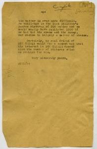 Thumbnail of Letter from W. E. B. Du Bois to unidentified correspondent [fragment]