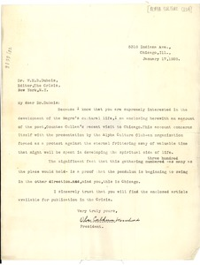 Thumbnail of Letter from Alpha Culture Club to W. E. B. Du Bois