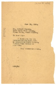 Thumbnail of Letter from W. E. B. Du Bois to Alpha Phi Alpha Fraternity