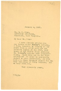 Thumbnail of Letter from W. E. B. Du Bois to Bluefield Institute