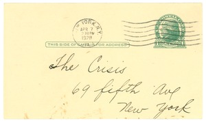 Thumbnail of Postcard from Austin Brice to Crisis