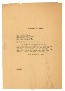 Thumbnail of Letter from W. E. B. Du Bois to Commonwealth Fund