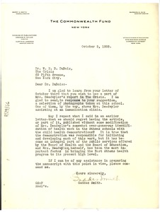 Thumbnail of Letter from Commonwealth Fund to W. E. B. Du Bois