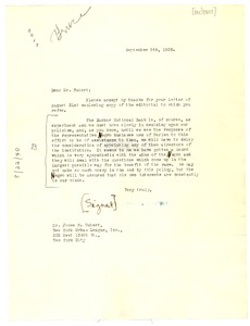 Thumbnail of Letter from Charles O. Heydt to James H. Hubert