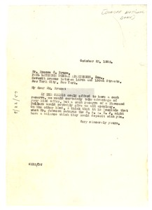 Thumbnail of Letter from W. E. B. Du Bois to Dunbar National Bank