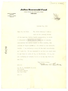 Thumbnail of Letter from Edwin R. Embree to W. E. B. Du Bois