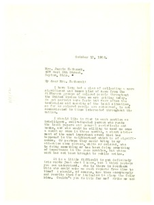 Thumbnail of Letter from W. E. B. Du Bois to Jessie Hathcock