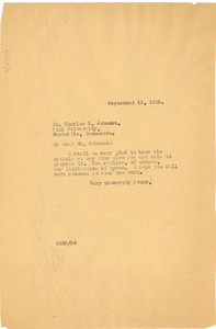 Thumbnail of Letter from W. E. B. Du Bois to Charles S. Johnson