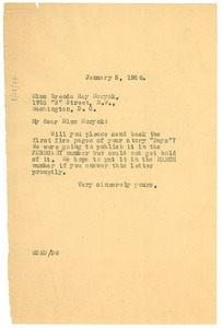 Thumbnail of Letter from W. E. B. Du Bois to Brenda Ray Moryck