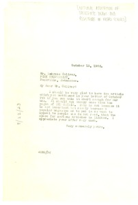 Thumbnail of Letter from W. E. B. Du Bois to the National Association of Collegiate Deans and Registrars in Negro Schools