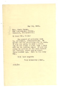 Thumbnail of Letter from W. E. B. Du Bois to Maude Owens