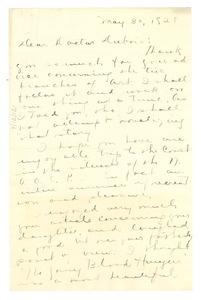Thumbnail of Letter from Maude Owens to W. E. B. Du Bois