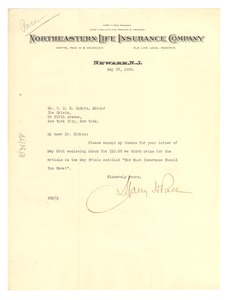Thumbnail of Letter from Harry Pace to W. E. B. Du Bois