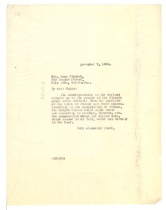 Thumbnail of Letter from W. E. B. Du Bois to Emma Pischel