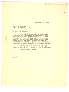 Thumbnail of Letter from W. E. B. Du Bois to Republican National Committee