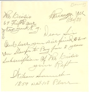 Thumbnail of Letter from Wilson Saumth to Crisis